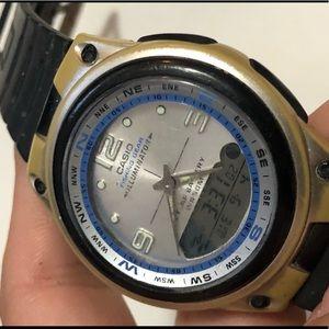 Vintage Casio fishing watch